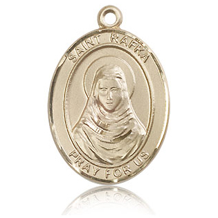 14kt Yellow Gold 1in St Rafka Medal