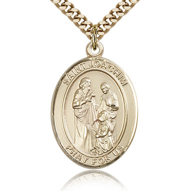 Gold Filled 1in St Joachim Medal & 24in Chain