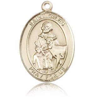 14kt Yellow Gold 1in St Giles Medal