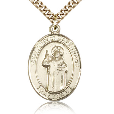 Gold Filled 1in St John of Capistrano Medal & 24in Chain