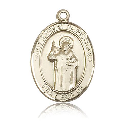 14kt Yellow Gold 1in St John of Capistrano Medal