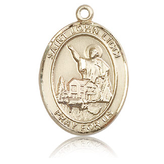 14kt Yellow Gold 1in St John Licci Medal