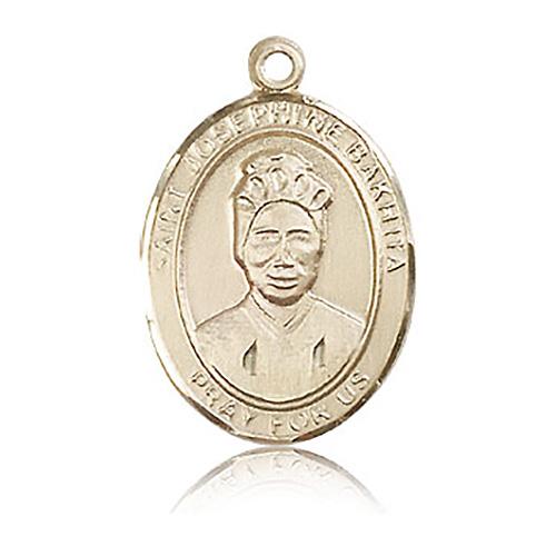 14kt Yellow Gold 1in St Josephine Bakhita Medal