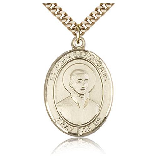 Gold Filled 1in St John Berchmans Medal & 24in Chain