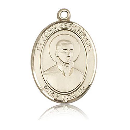 14kt Yellow Gold 1in St John Berchmans Medal