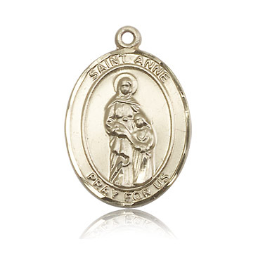 14kt Yellow Gold 1in St Anne Medal