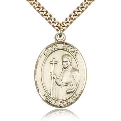 Gold Filled 1in St Regis Medal & 24in Chain