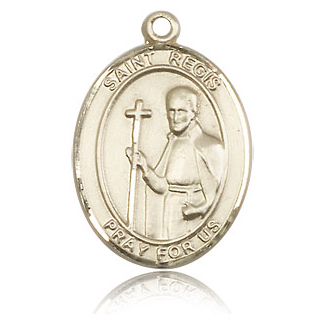 14kt Yellow Gold 1in St Regis Medal