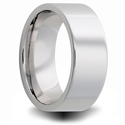 Cobalt 7mm Polished Pipe Wedding Band