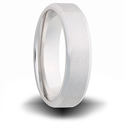 Cobalt 7mm Band with Beveled Edges