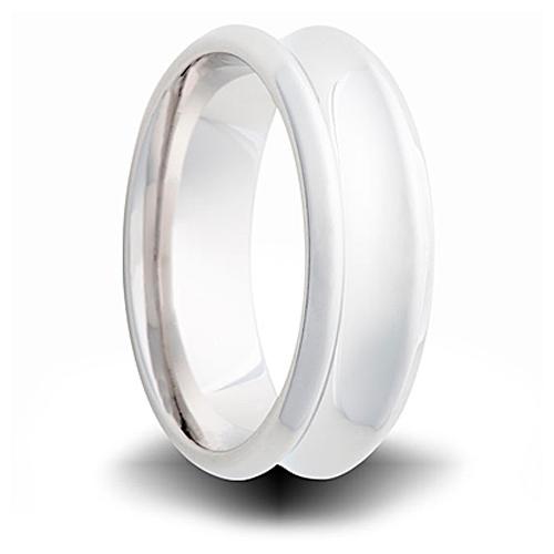 Cobalt 7mm Polished Concave Wedding Band