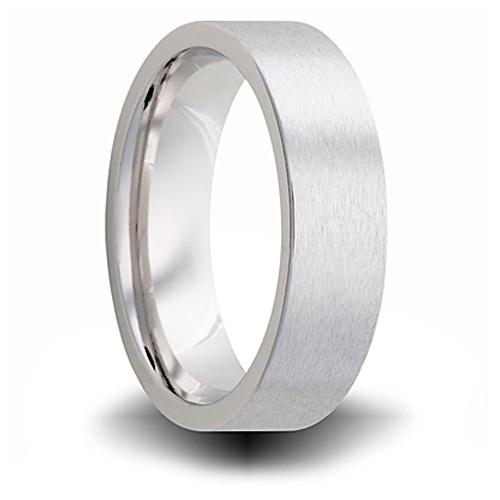 Cobalt 7mm Brushed Pipe Cut Wedding Band
