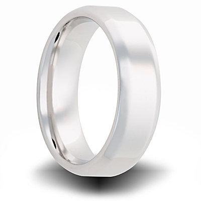 Cobalt 7mm Polished Band with Beveled Edges