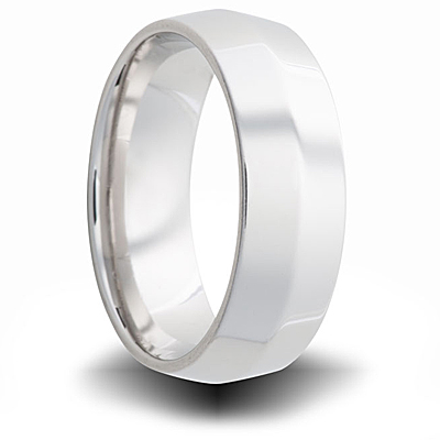 Cobalt 7mm Polished Tapered Band