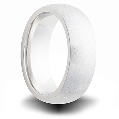Cobalt 7mm Brushed Domed Band