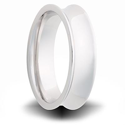 Cobalt 7mm Polished Concave Band
