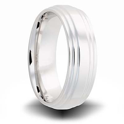 Cobalt 7mm Polished Step Down Band