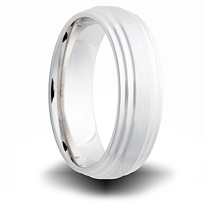 Cobalt 7mm Brushed Finish Step Down Band