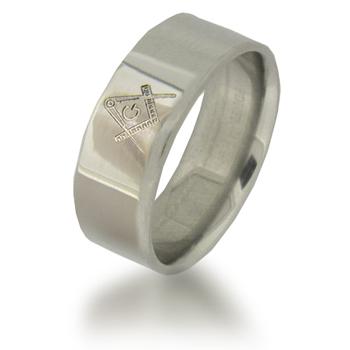 Titanium 7mm Masonic Ring