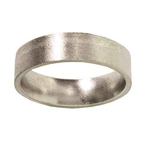 7mm Titanium Band Stone Finish with Platinum Inlay