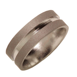 7mm Titanium Band Sandblast with Groove