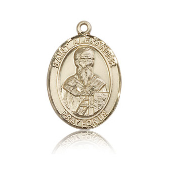 14kt Yellow Gold 3/4in St Alexander Medal