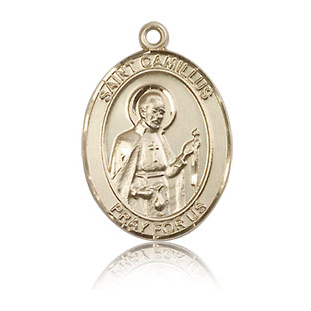 14kt Yellow Gold 3/4in St Camillus Medal