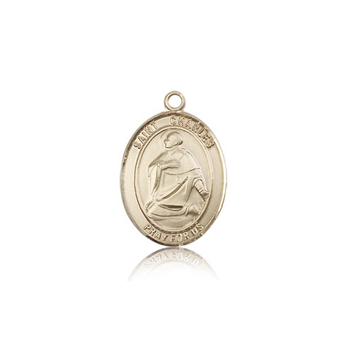 14kt Yellow Gold 3/4in St Charles Medal