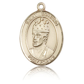 14kt Yellow Gold 3/4in St Edward Medal