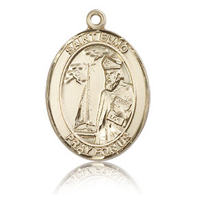 14kt Yellow Gold 3/4in St Elmo Medal