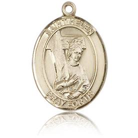 14kt Yellow Gold 3/4in St Helen Medal