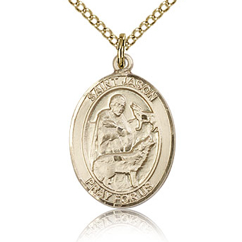 Gold Filled 3/4in St Jason Medal & 18in Chain