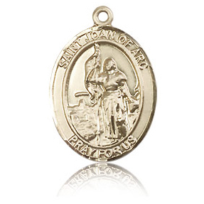 14kt Yellow Gold 3/4in St Joan of Arc Medal