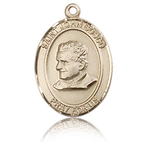 14kt Yellow Gold 3/4in St John Bosco Medal
