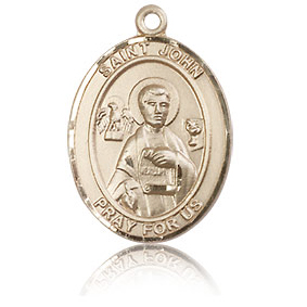 14kt Yellow Gold 3/4in St John the Apostle Medal