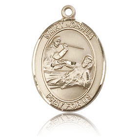 14kt Yellow Gold 3/4in St Joshua Medal