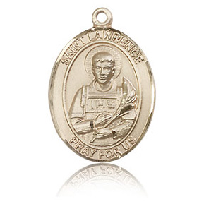 14kt Yellow Gold 3/4in St Lawrence Medal