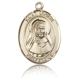 14kt Yellow Gold 3/4in St Louise de Marillac Medal