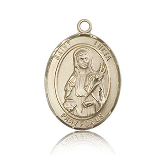 14kt Yellow Gold 3/4in St Lucia Medal