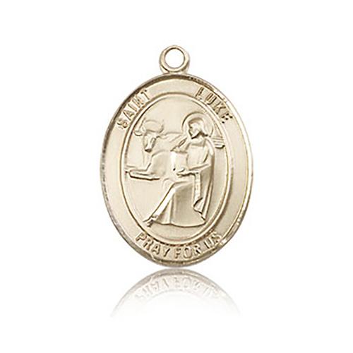 14kt Yellow Gold 3/4in St Luke Medal