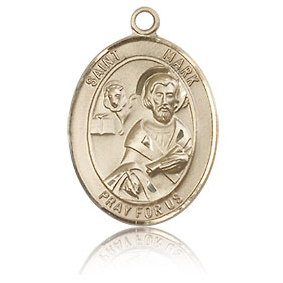 14kt Yellow Gold 3/4in St Mark Medal