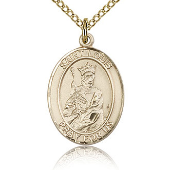 Gold Filled 3/4in St Louis Medal & 18in Chain