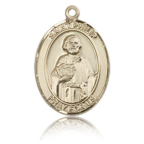 14kt Yellow Gold 3/4in St Philip the Apostle Medal