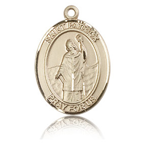14kt Yellow Gold 3/4in St Patrick Medal