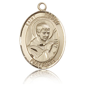 14kt Yellow Gold 3/4in St Robert Bellarmine Medal