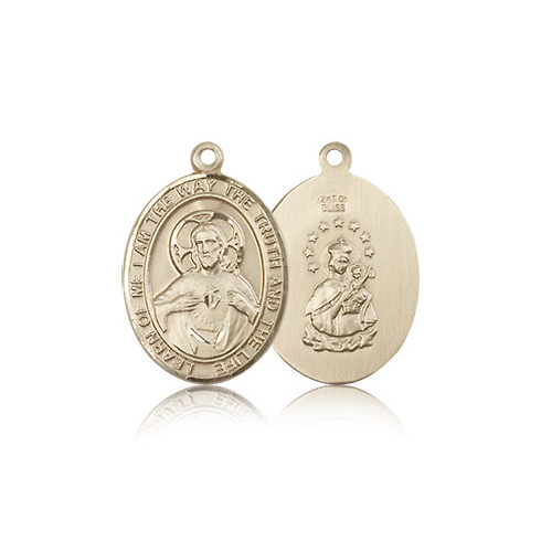 14kt Yellow Gold 3/4in Scapular Medal