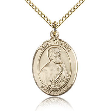 Gold Filled 3/4in St Thomas the Apostle Medal & 18in Chain