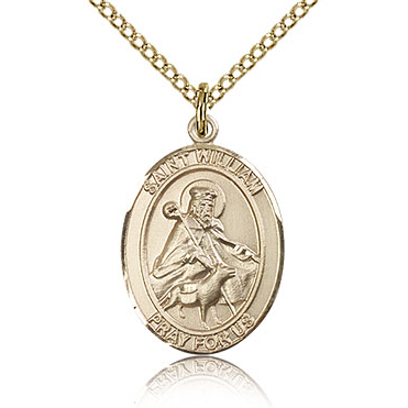 Gold Filled 3/4in St William Medal & 18in Chain