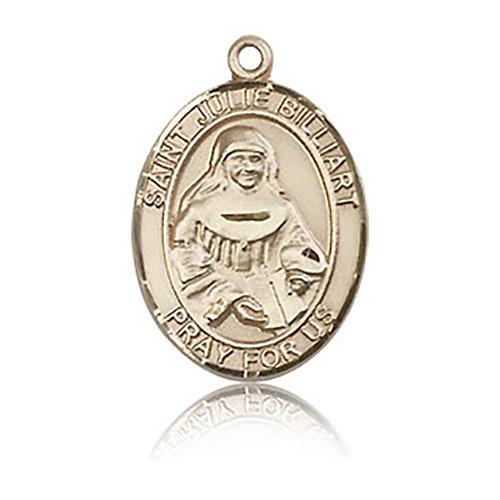 14kt Yellow Gold 3/4in St Julie Billiart Medal