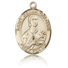 14kt Yellow Gold 3/4in St Gemma Galgani Medal